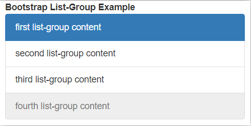 Bootstrap List Group - 2