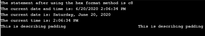 C# String Format()-1.2