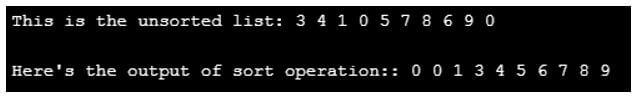 C++ sort() 2