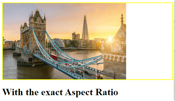 With the exact Aspect Ratio Example 6