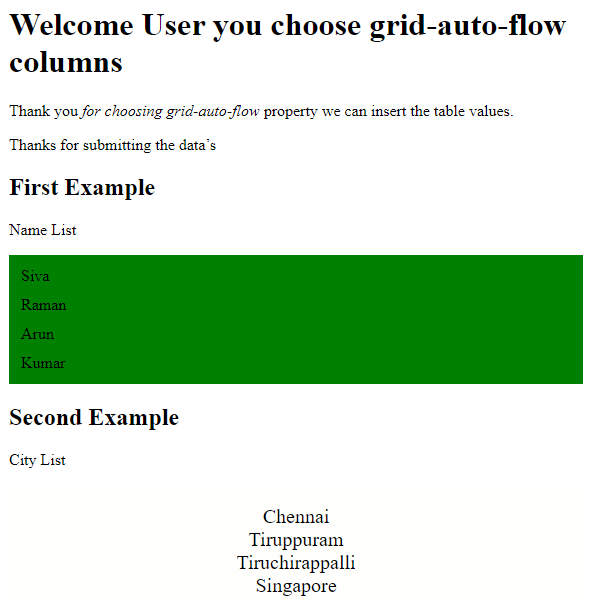 CSS Row Example 2