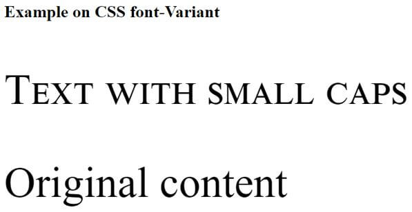 CSS font-variant1