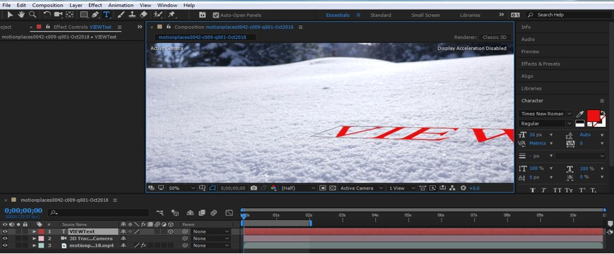 Camera Tracking in After Effect - 12