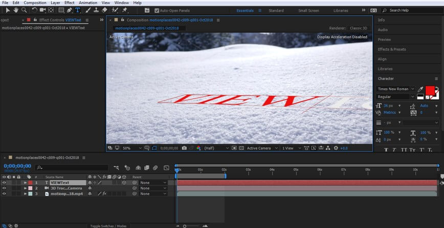 Camera Tracking in After Effect - 13