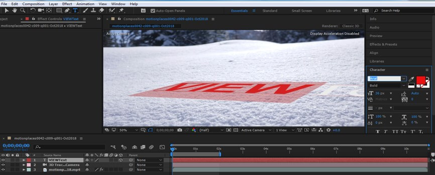 Camera Tracking in After Effect - 14