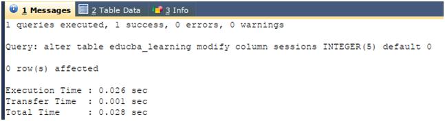 Column in SQL Example 2