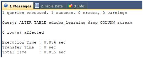 Column in SQL Example 4