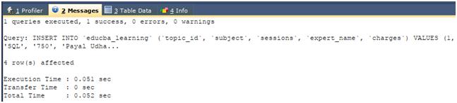 Column in SQL Example 5