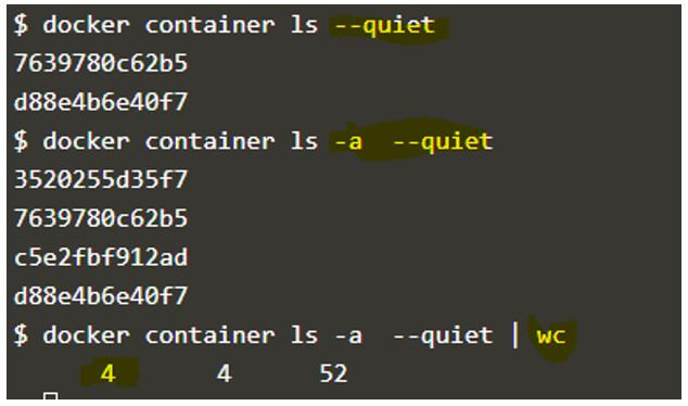 Docker List Containers 26