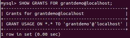 Grant Privileges MySQL Example 4