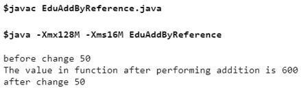 Java Call by Reference2