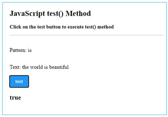 JavaScript test()-1.1