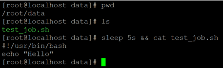 Linux Sleep Example 3b