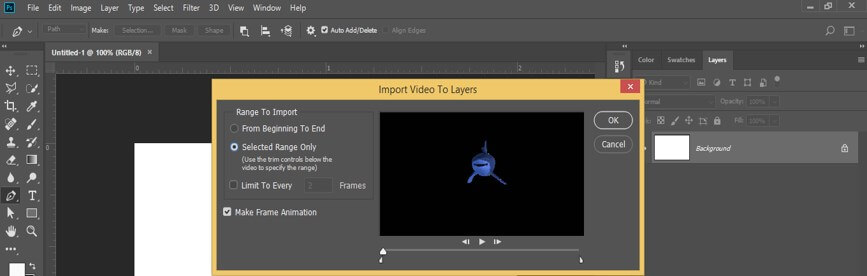 Import Video to Layers'
