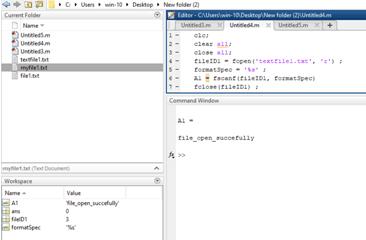 Matlab FOPEN Example 1