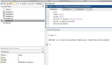 Matlab FOPEN Example 2