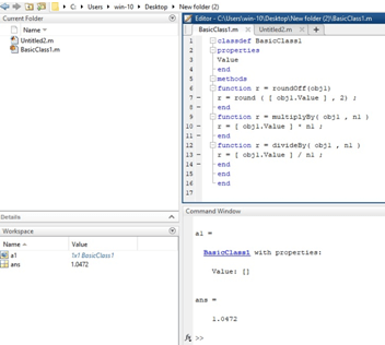Matlab Object Example 1