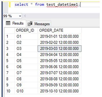 MySQL Datetime 1