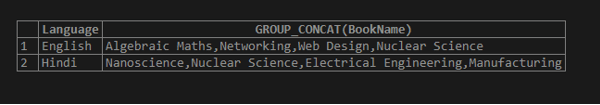 MySQL GROUP_CONCAT() output 2