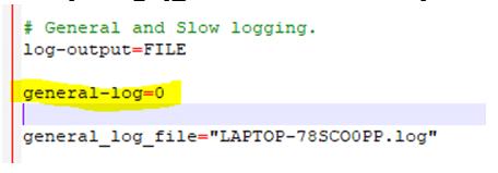 MySQL Log File-1.3