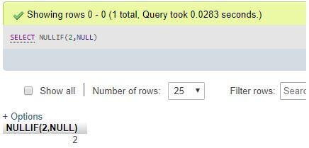 MySQL NULLIF()5