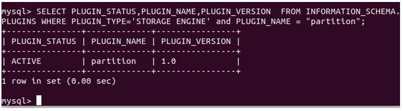 MySQL Partition 1