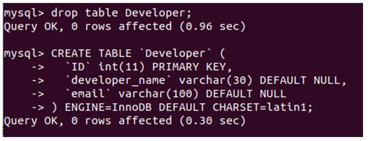 MySQL Primary Key 1