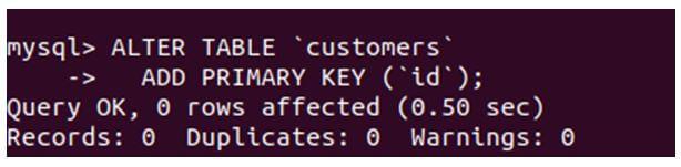 MySQL Primary Key 6