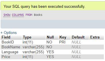MySQL SHOW Example 3