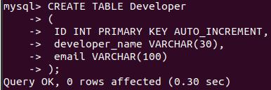 MySQL Transaction Example 1