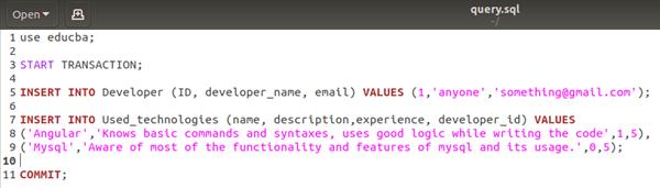 MySQL Transaction Example 3