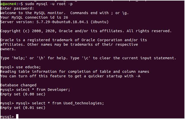 Developer Table Example 5