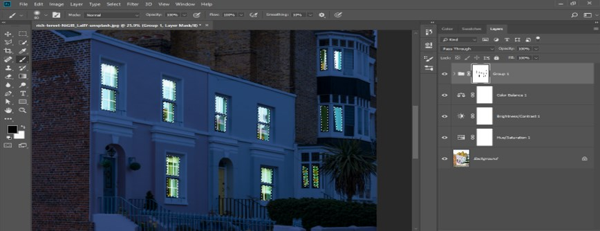 Night Effect in Photoshop - 25