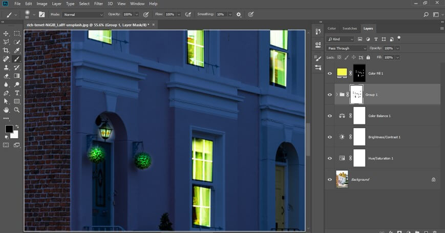 Night Effect in Photoshop - 30