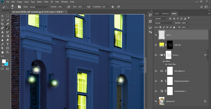 Night Effect in Photoshop - 33
