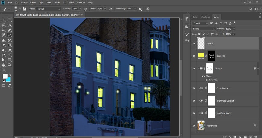 Night Effect in Photoshop - 34