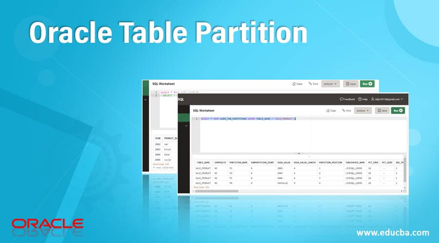 OracleTable Partition