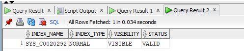 Oracle UNIQUE Index2