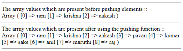 PHP array_push()-1.1
