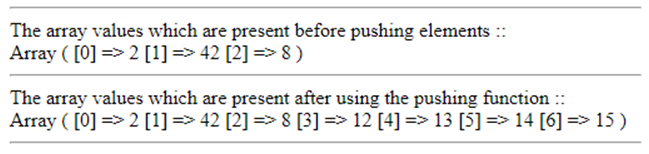 PHP array_push()-1.3