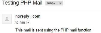 PHP mail() - 1