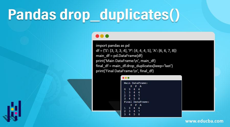Pandas drop_duplicates()