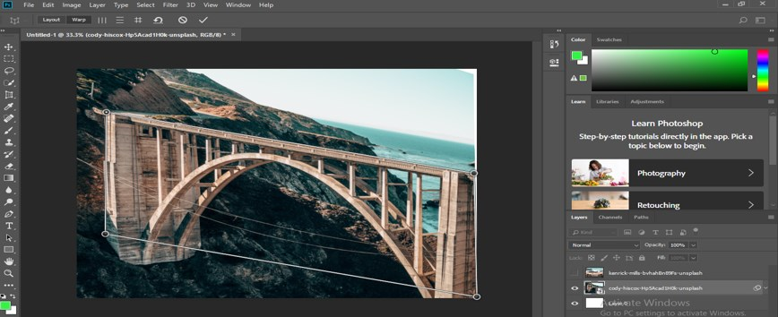 Perspective Correction in Photoshop - 10