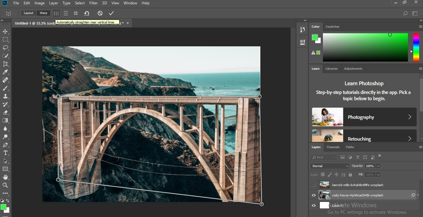 Perspective Correction in Photoshop - 11