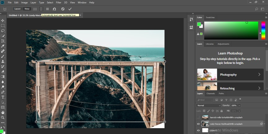 Perspective Correction in Photoshop - 12