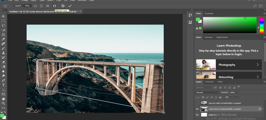 Perspective Correction in Photoshop - 14