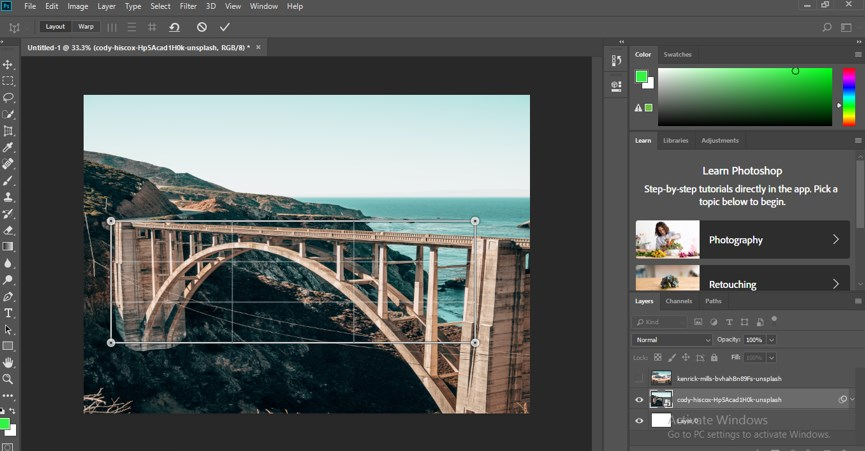 Perspective Correction in Photoshop - 5