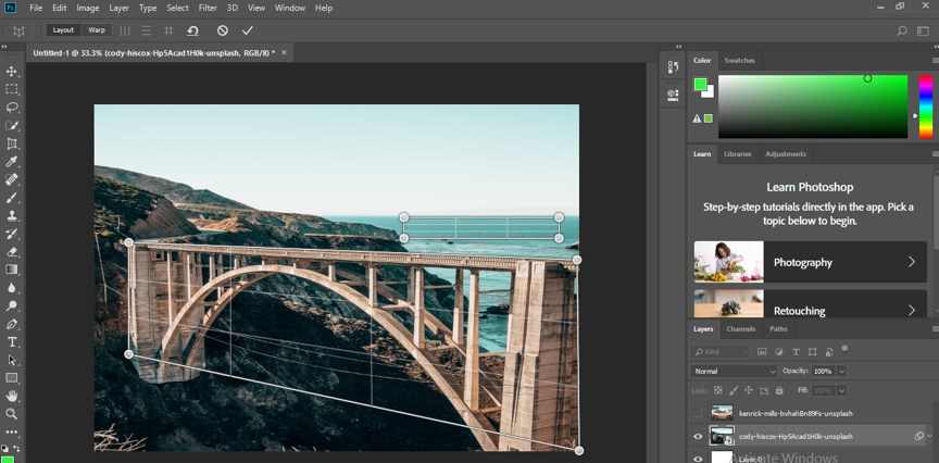 Perspective Correction in Photoshop - 8