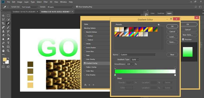 Photoshop Gold Gradient - 27