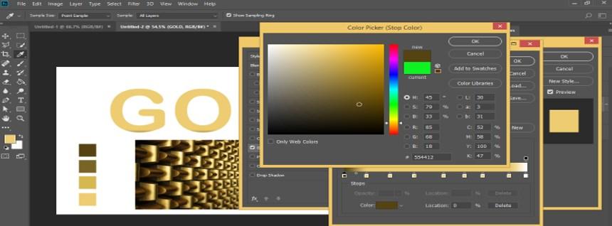 Photoshop Gold Gradient - 30